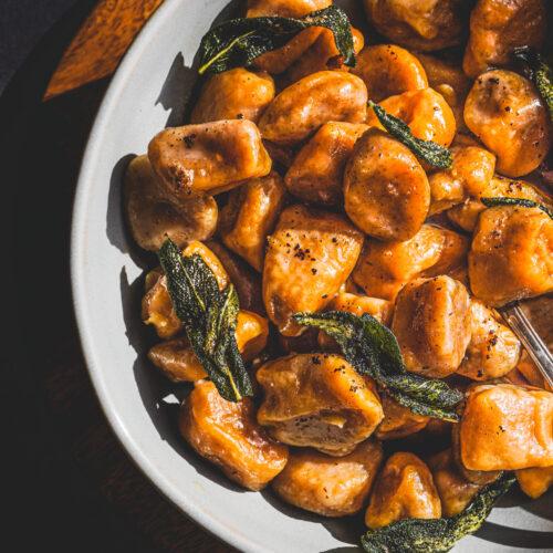 Sweet Potato Gnocchi Wit Brown Butter Sage