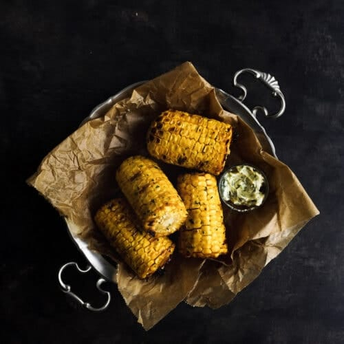 Grilled Herb Butter Corn On The Cob